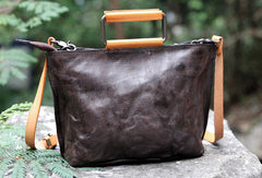 Handmade handbag tote purse leather crossbody bag purse shoulder bag for women