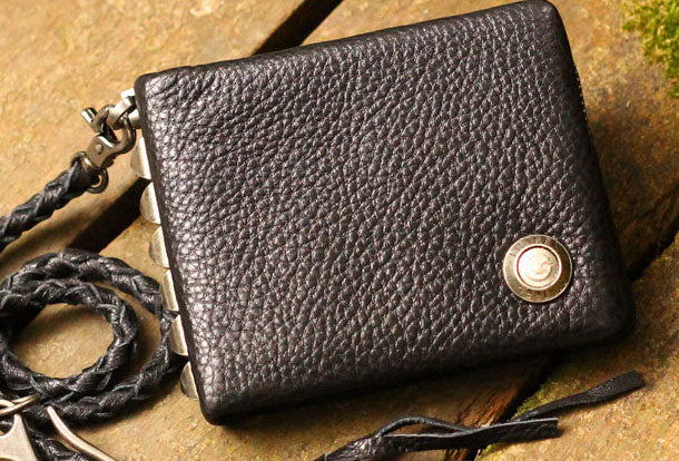 Handmade Genuine Leather Wallet Short Leather Wallet Slim Bifold Wallet Bag For