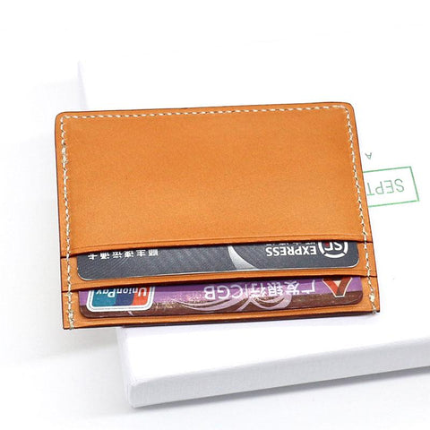 Leather Mens Card Wallet Card Holder Front Pocket Wallet Small Slim Wallet for Men