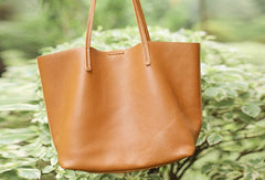 Handmade Leather Handbag Tote Bag Shopper Bag Shoulder Bag Purse For Women