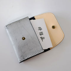Handmade LEATHER Womens Small Card Wallet Leather Card Small Wallet FOR Women