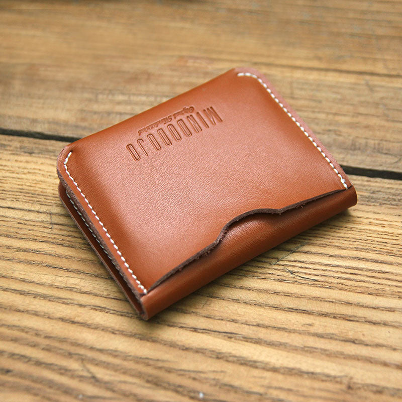 Cute LEATHER Womens Brown Small Wallet Bifold Leather Card Wallets FOR Women