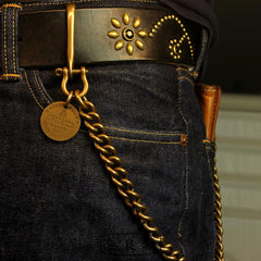 Cool Brass Mens Biker Wallet Chain Gold Wallet Chain Pants Chain For Men