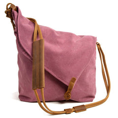 Cute Canvas Womens Mens Pink Side Bag Shoulder Bag Blue Messenger Bag For Men