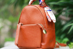 Stylish Leather Cute Womens Small Backpack School Backpack Mini Backpack for Women