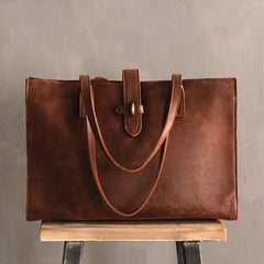Vintage LEATHER Large WOMEN Tote Bag Handmade Tote Shoulder Purses FOR WOMEN