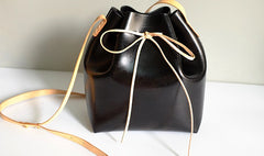 Handmade Leather Small Big Womens Bucket Purse Shoulder Barrel Bag for Women