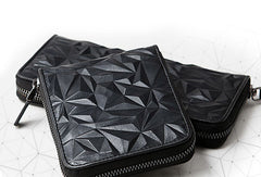 Genuine Leather short Diamond wallet purse women small wallet vintage