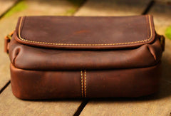 Cool Vintage Leather Mens Small Messenger Bag for men
