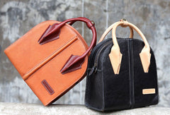 Handmade unique handbag purse leather purse shoulder bag for women