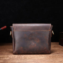 Cool Leather Messenger Bag Side Bag Vintage Shoulder Bag For Men