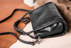 Genuine Leather Handbag Woven Crossbody Bag Shoulder Bag Purse For Women