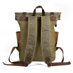 Waxed Canvas Mens Backpack Canvas Travel Backpacks Canvas School Backpack for Men