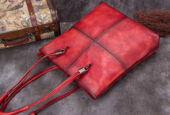 Genuine Leather Handbag Vintage Tote Bag Shoulder Bag Purse For Women