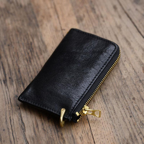 Cool Leather Mens Black Key Chain Wallet Car Key Wallet Brown Car Key Case Keys Holder for Men