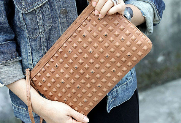Handmade clutch bag purse crossbody leather bag purse shoulder bag for women