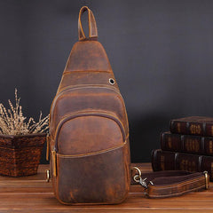 Cool Leather Chest Bag Sling Bag Sling Crossbody Bag Sling Travel Bag Sling Hiking Bags For Men