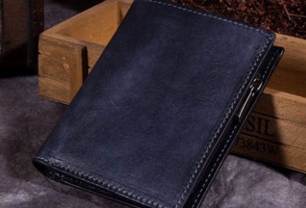 Genuine Leather Wallet Bifold Slim Wallet Short Wallet Purse For Men Women