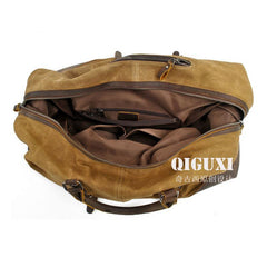 Mens Waxed Large Canvas Weekender Bag Canvas Travel Bag Canvas Overnight Bag for Men
