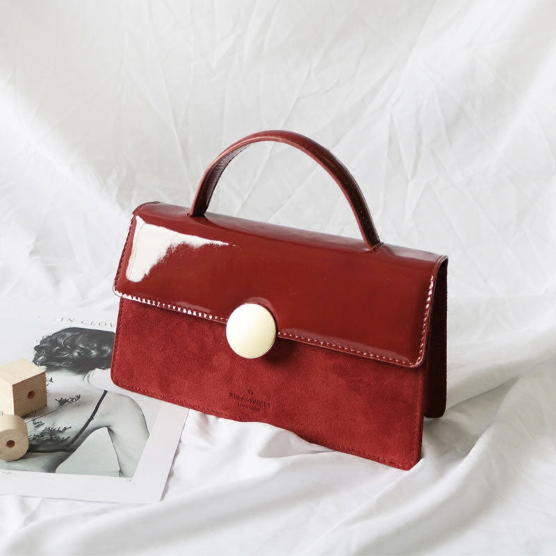 Cute Leather Red Womens Handbag Crossbody Bag Purse Shoulder Bag for Women