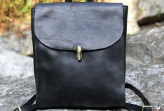 Handmade Leather cute backpack bag shoulder bag green women leather purse