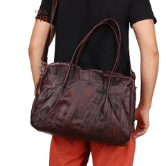 Fashion Vintage Leather Men's Travel Bag Weekender Bag Shoulder Bag For Men