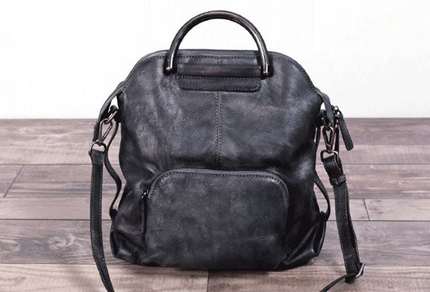 Genuine Handmade Vintage Leather Backpack Bag Shoulder Bag Women Leather Purse