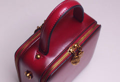 Genuine Leather handbag Cube bag shoulder bag for women leather crossbody bag