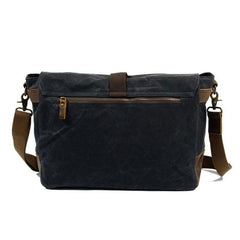 Mens Waxed Canvas Side Bag Messenger Bag Canvas Courier Bag for Men