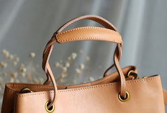 Handmade Leather handbag purse bucket bag for women shopper bag leather shoulder bag