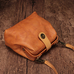 Vintage Leather Brown Womens Small Doctor Purse Shoulder Bag Crossbody Doctor Purse For Women