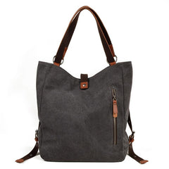 Mens Waxed Canvas Leather Tote Bag Canvas Handbag Canvas Shoulder Bag for Men