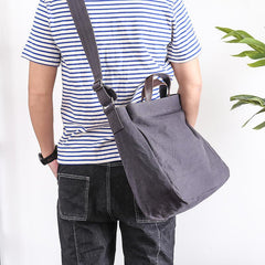Canvas Mens Womens Large Side Bag Postman Bag Handbag Tote Bag Messenger Bag for Men