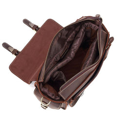 Vintage Leather Men's Shoulder Camera Bag Shoulder SLR Side Bag Briefcase For Men
