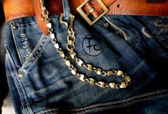 Brass biker trucker dragon hook wallet Chain for chain wallet biker wallets trucker wallets