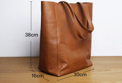 Handmade Leather Handbag Tote Bag Shopper Bags Shoulder Bags Purse For Women
