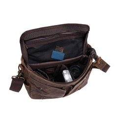 Mens Canvas Camera Handbag Camera Side Bag Camera Messenger Bag for Men