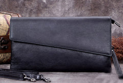 Genuine Leather Clutch Vintage Long Wallet Crossbody Bag Shoulder Bag Handbag Purse For Women