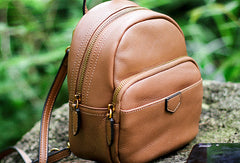 Leather Cute Womens Backpacks School Backpack Purse for Women