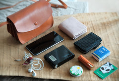 Handmade Leather phone purse organ for women crossbody bag leather shoulder bag