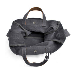 Mens Waxed Canvas Shopper Bag Canvas Tote Bag Canvas Shoulder Bag for Men