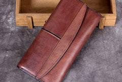 Genuine Leather Wallet Cards Wallet Long Wallet Trifold Wallet Purse For Men Women