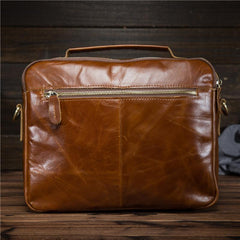 Cool Leather Small Side Bag Handbag Work Bag Business Bag Shoulder Bags For Men