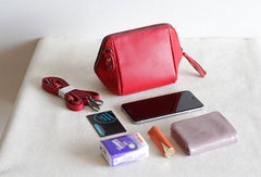 Handmade Leather phone purse clutch for women crossbody bag leather shoulder bag