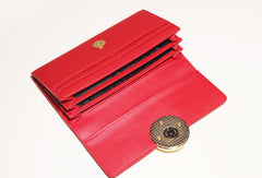 Genuine leather Bifold Cute Short clutch purse long wallet purse clutch women