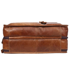Leather Men Large Briefcase Handbag Travel Bag OverNight Bags For Men