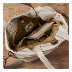 Canvas Cool Mens Tote Bag 14 inches Canvas Handbag Canvas Messenger Bag for Men Women