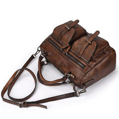 Vintage Leather Men's Small Messenger Bag Handbag Shoulder Bag For Men
