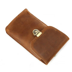 Cool Leather Men's Cell Phone Holsters Belt Pouch Belt Bag Waist Bag For Men