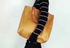 Handmade Leather Women Tote Bag Purse for Work Shopper Bag